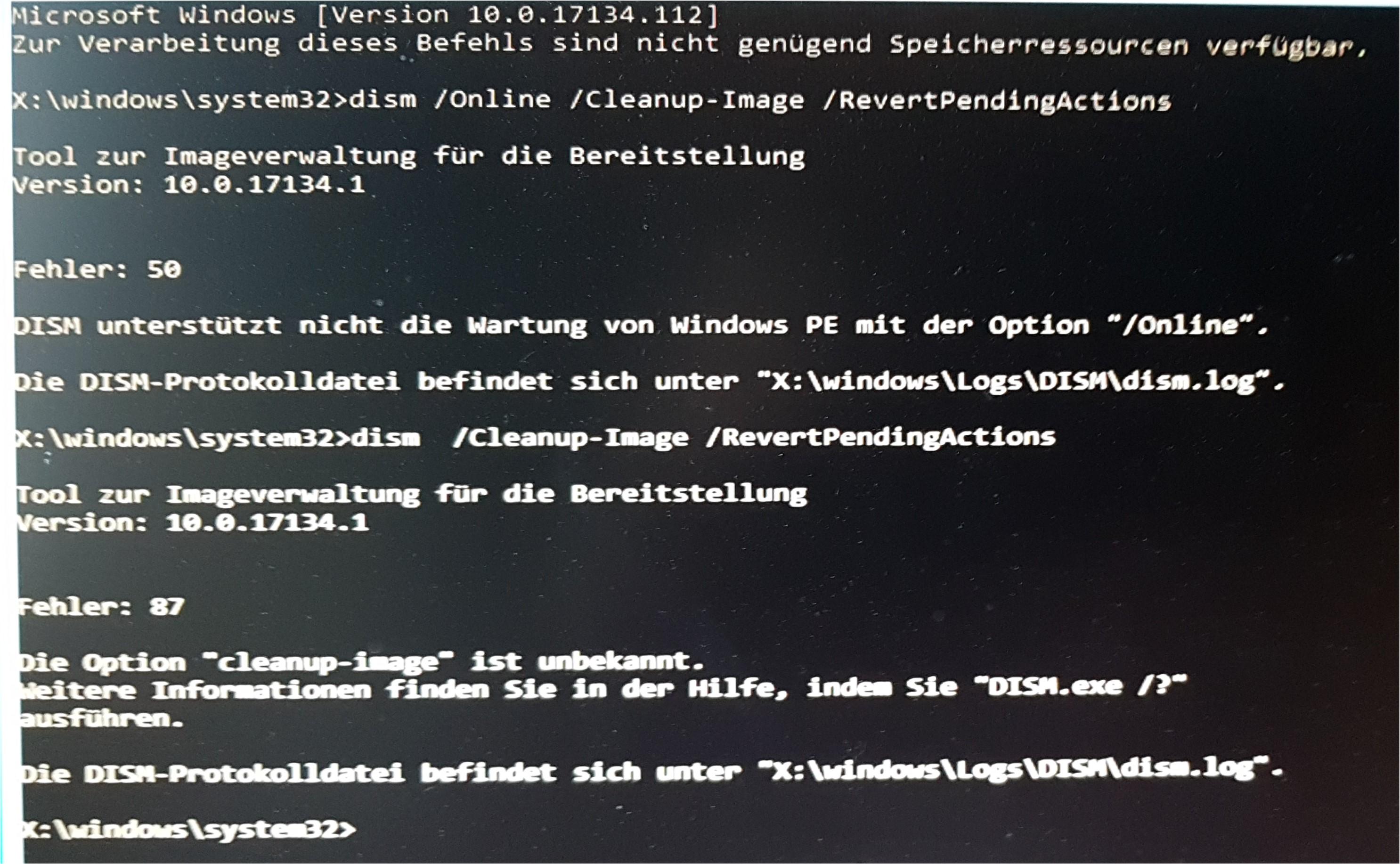 Windows 10 update auf 1809 geht nicht