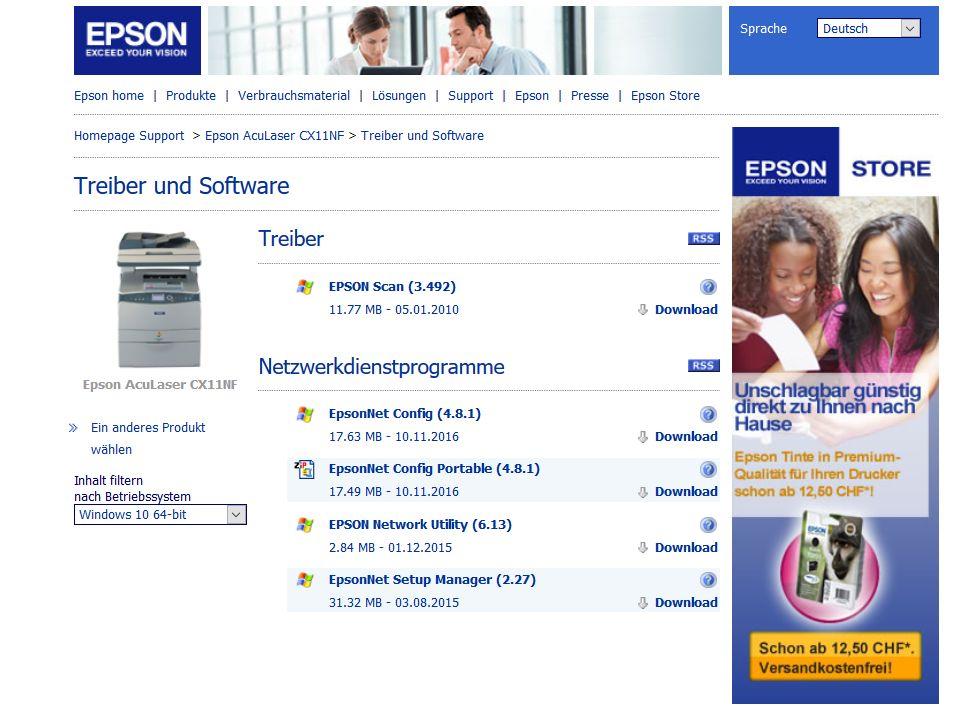 Epson Download Center - gibt es das überhaupt