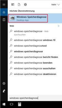 Arbeitsspeicher Testen Windows 10