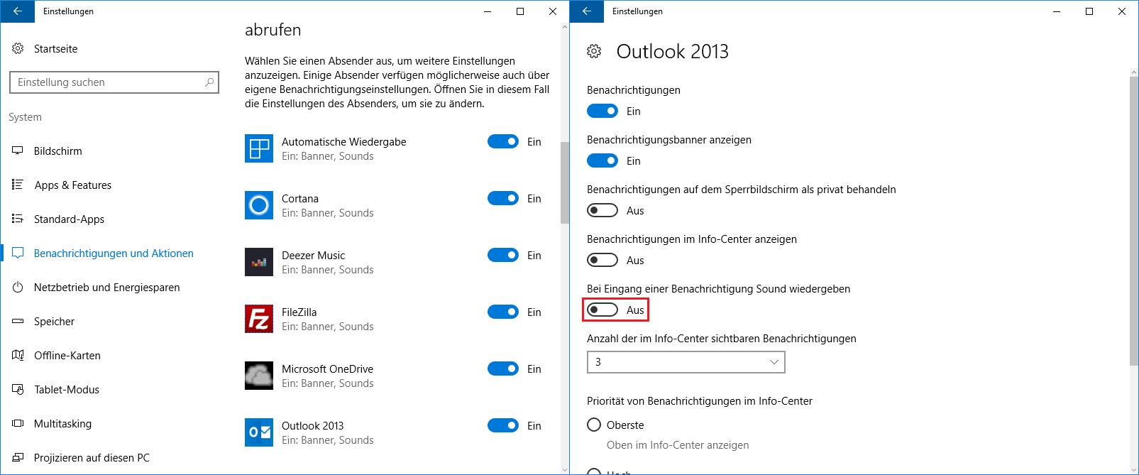Benachrichtigungston für einzelne Programme ausschalten - so geht es bei Windows 10 | Windows 10