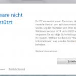 So lässt sich die Update-Sperre für alte Windows-Versionen unter Verwendung neuer CPUs umgehen