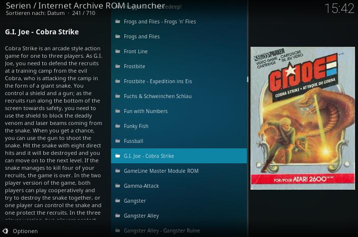 Kodi Internet Archive ROM Launcher von Zach Morris unter