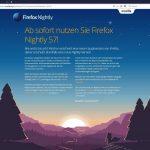 Firefox 57: neues Aussehen und mehr Leistung - Ausblick auf die übernächste Version