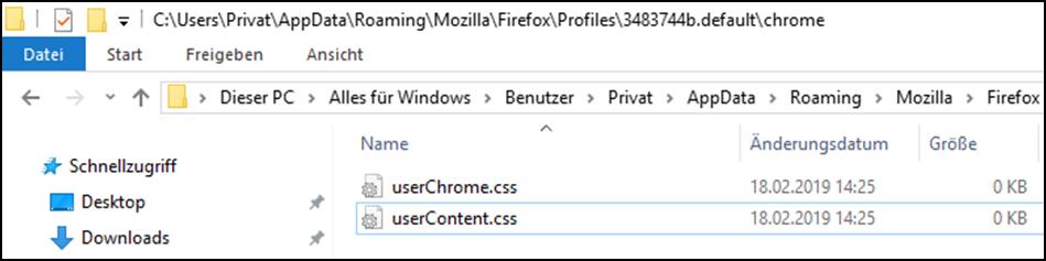 MozillaFirefoxBrowseruserChrome.cssuserContent.cssFileFilesDateiDateienStylishVeränder-2.png