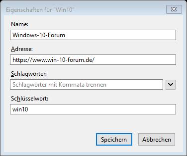 Windows10FirefoxBrowserBookmarkBookmarksLesezeichenSchlüsselwortSchlüsselwörternutzenv.png