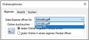 Windows-10Version-1903Datei-ExplorerDieser-PCSchnellzugriffAnsichtOrdneroptionenAnsicht-im-SchnellzugriffAnsicht-in-Dieser-PCWindows10Version1903OrdneroptionenAnsichtändernverändernanpassen-3-300x135.png