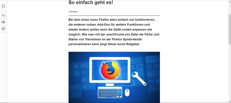 FirefoxBrowserMozilla-FirefoxLesemodusBreiteWeiteSeiteRanduserContent.cssuserChrome.cssDateiDateienFileFilesFirefox-customizingFirefox-personalisierenFirefox-anpassenAnsicht-personalisieren-2.png