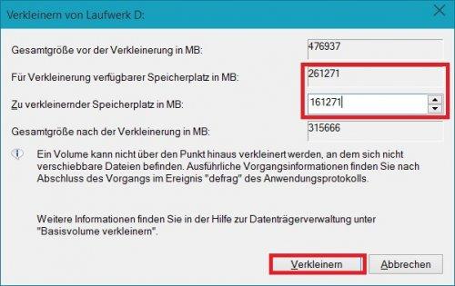 Datenträgerverwaltung Dialog Verkleinerung - neue Grösse angegeben.jpg