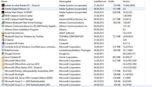 2015-08-21 Software-Liste I.JPG