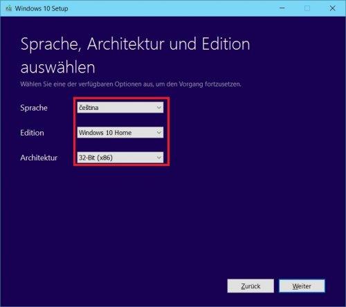Media Creation Tool - Sprach und Versionsauswahl.jpg