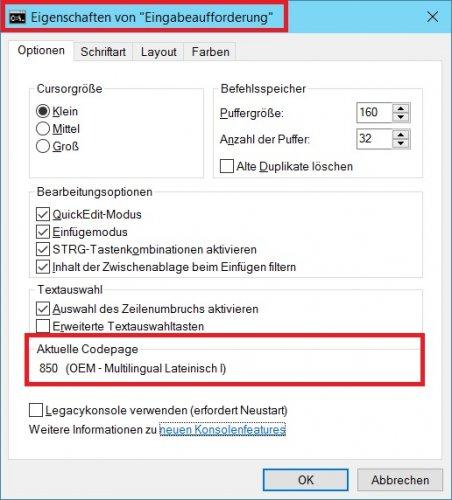 Eingabeaufforderung - Eigenschaften - Codepage.jpg