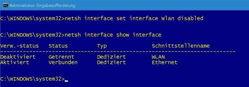 Eingabeaufforderung - Netzwerkadapter - Wlan Adapter deaktivieren.jpg