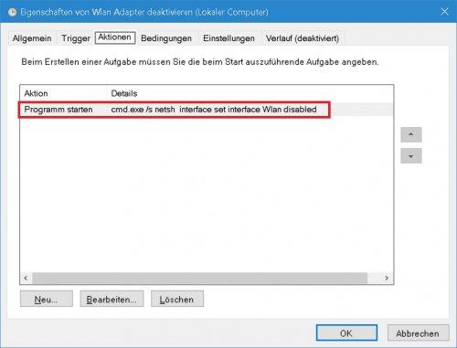 Aufgabenplanung - Wlan Adapter deaktivieren - Aktionen.jpg