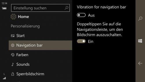 Lumia 950 XL - Einstellungen - Personalisierung - Navigationsleiste.jpg